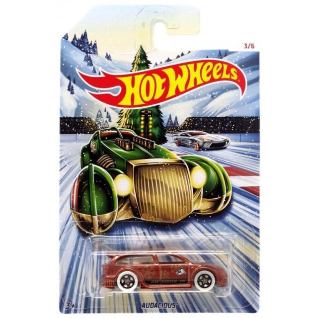 Obrázek produktu Hot Wheels Kovová autíčka Holiday Hot Rods Audacious, Mattel GBC63