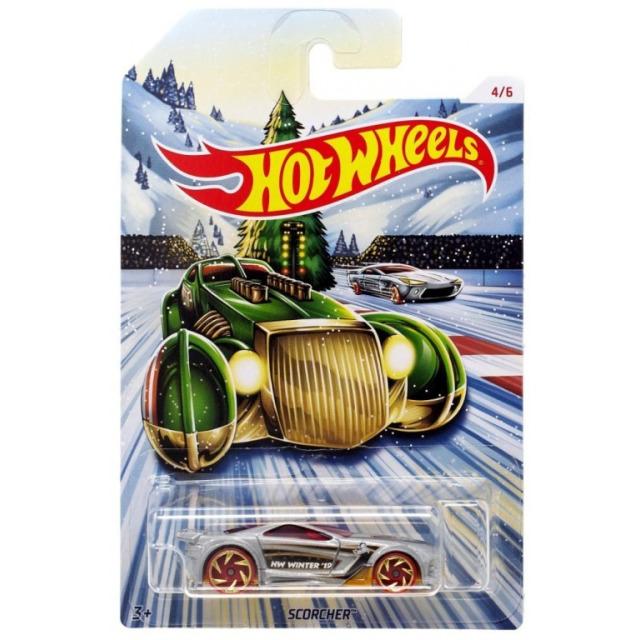 Obrázek produktu Hot Wheels Kovová autíčka Holiday Hot Rods Scorcher, Mattel GBC65