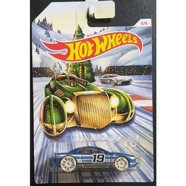 Obrázek produktu Hot Wheels Kovová autíčka Holiday Hot Rods Muscle Tone, Mattel GBC66