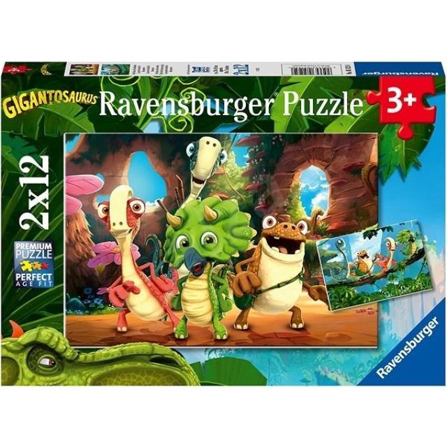 Obrázek produktu Ravensburger 05125 Puzzle Gigantosaurus 2x12 dílků