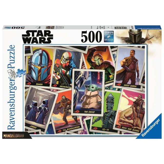 """Obrázek produktu Ravensburger 16561 Puzzle Star Wars The Mandalorian - """"Baby Yoda"""" 500 dílků"""