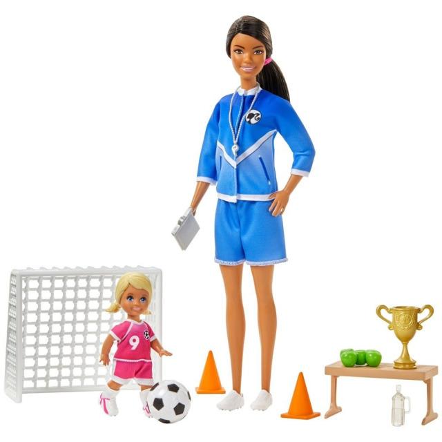 Obrázek produktu Mattel Barbie fotbalová trenérka s panenkou herní set brunetka, Mattel GLM71
