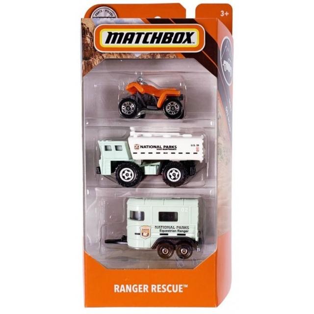 Obrázek produktu Matchbox Sada 3 angličáků Ranger rescue, Mattel FMV44