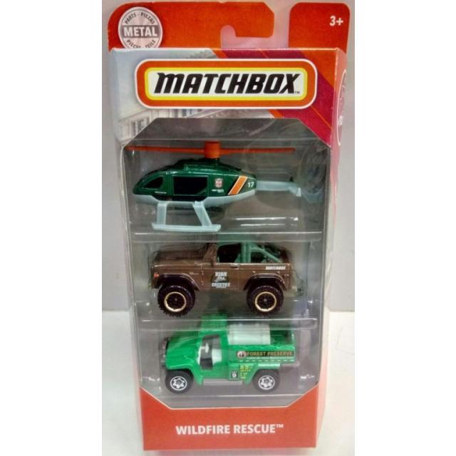Obrázek produktu Matchbox Sada 3 angličáků Wildfire rescue, Mattel FMV47
