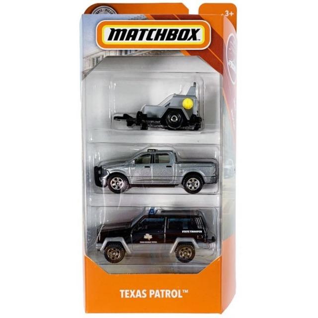 Obrázek produktu Matchbox Sada 3 angličáků Texas patrol, Mattel FMV46