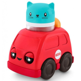 Obrázek 1 produktu Fisher Price Chrastící vozítka Červené autíčko, Mattel FNV39