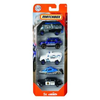 Obrázek 1 produktu Matchbox Angličák policie 5 ks, Mattel FWX27