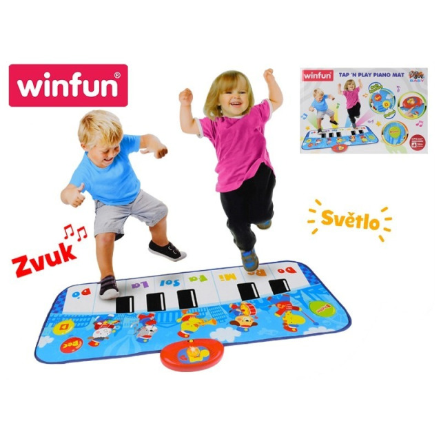 Obrázek produktu Winfun Piano tap'n play 85 cm 8 kláves se světlem a zvukem