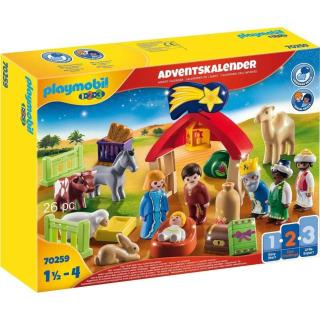 Obrázek 1 produktu Playmobil 70259 Adventní kalendář Vánoční betlém 1.2.3