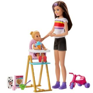 Obrázek 1 produktu Barbie Chůva herní set Zábavné krmení, Mattel GHV87