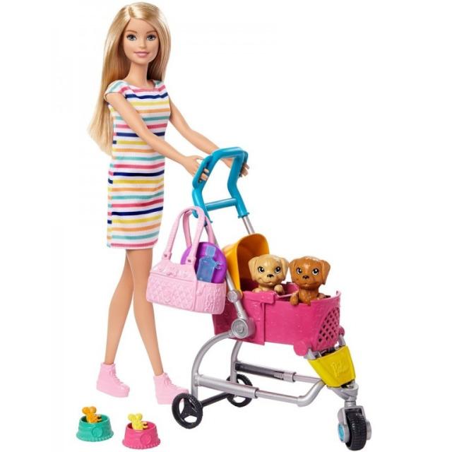 Obrázek produktu Barbie na vycházce s pejskem, Mattel GHV92