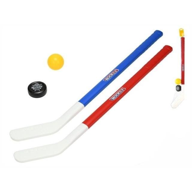 Obrázek produktu Hokejka pozemní 2 ks, florbalový míček a puk