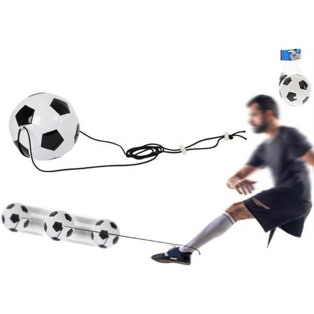 Obrázek produktu Fotbalový trenažér míč 19cm na pružném laně v síťce