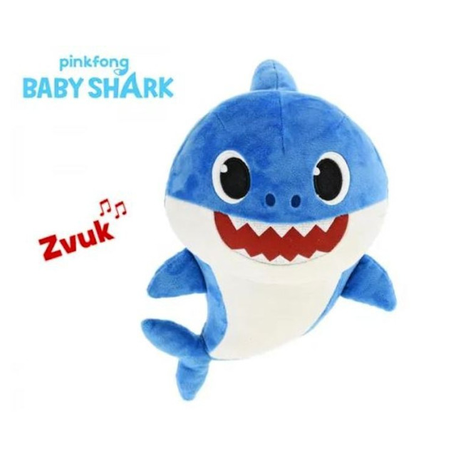 Obrázek produktu BABY SHARK Plyšové zvířátko žralok zpívající 17cm modrý