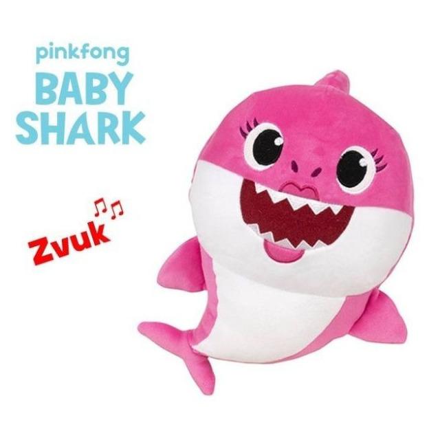 Obrázek produktu BABY SHARK Plyšové zvířátko žralok zpívající 20cm růžový