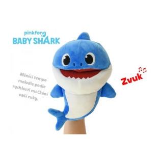 Obrázek 1 produktu BABY SHARK Plyšový maňásek žralok zpívající 23cm modrý