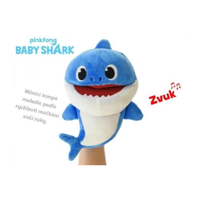 Obrázek produktu BABY SHARK Plyšový maňásek žralok zpívající 23cm modrý