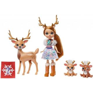 Obrázek 1 produktu ENCHANTIMALS Rodinka Rainey Reindeer s jelínky, Mattel GNP17