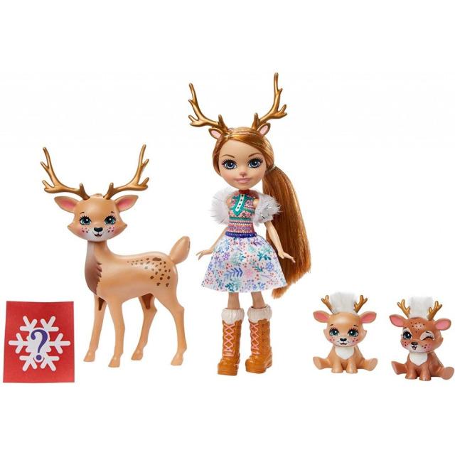 Obrázek produktu ENCHANTIMALS Rodinka Rainey Reindeer s jelínky, Mattel GNP17