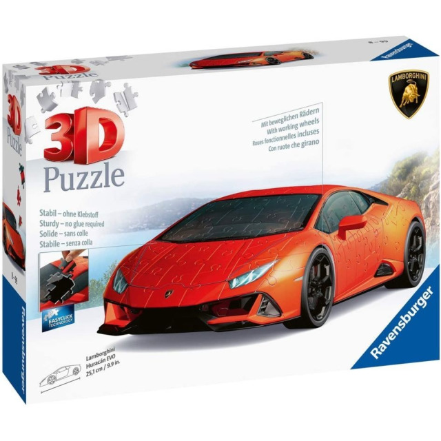 Obrázek produktu Ravensburger 11238 Puzzle 3D Lamborghini Huracan Evo 108 dílků