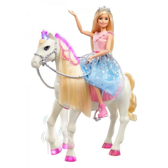 Obrázek produktu Barbie Adventure Princezna a kůň s blyštivou hřívou, Mattel GML79