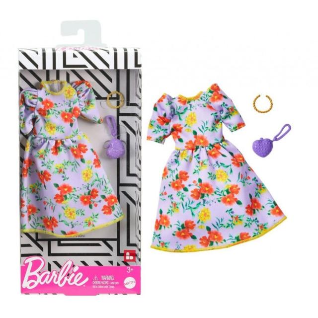 Obrázek produktu Barbie Šaty květované, Mattel GHW84