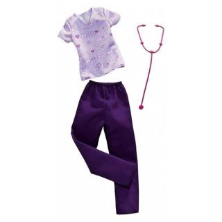 Obrázek 1 produktu Barbie profesní oblečení - Kardiolog, Mattel FXH96