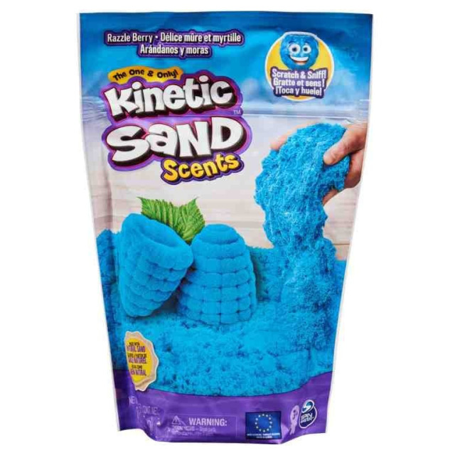 Obrázek produktu Kinetic Sand Kinetický písek voňavý Razzleberry (Maliny a černý rybíz) 227g