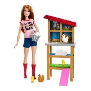 Obrázek 1 produktu Barbie Povolání herní set Chovatelka kuřat, Mattel FXP15