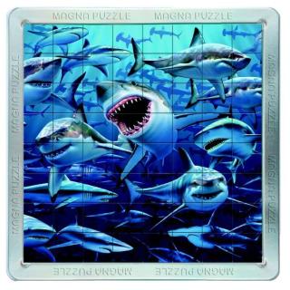 Obrázek 1 produktu Piatnik 3D Magnetické puzzle Žraloci