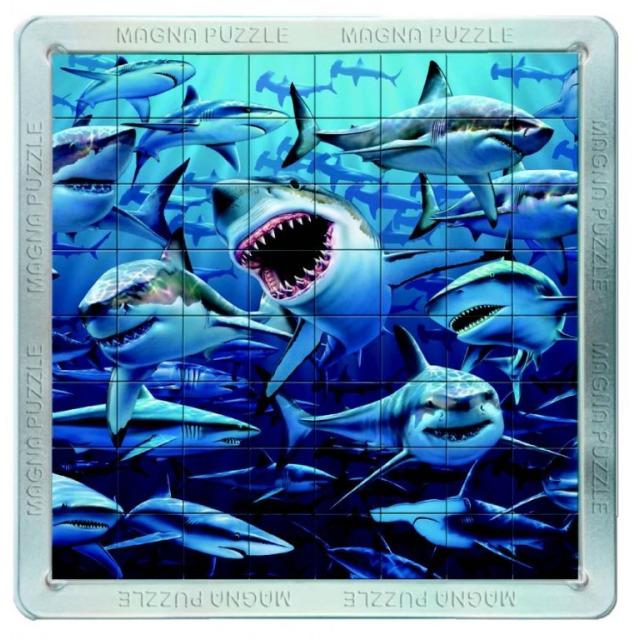 Obrázek produktu Piatnik 3D Magnetické puzzle Žraloci