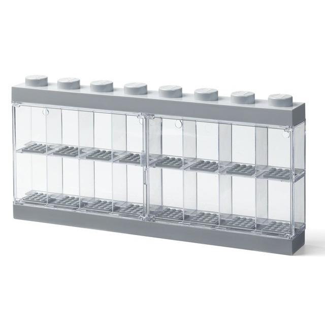 Obrázek produktu LEGO vitrínka na 16 minifigurek šedá