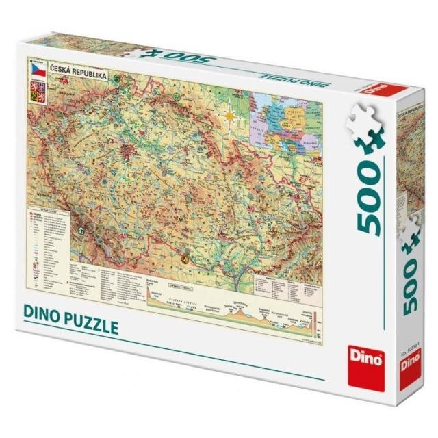 Obrázek produktu DINO Puzzle Mapa české republiky 500 dílků