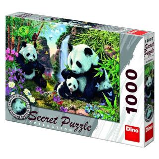 Obrázek 1 produktu DINO Puzzle Pandy Secret collection - 12 skrytých detailů, 1000 dílků