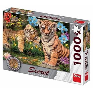 Obrázek 1 produktu DINO Puzzle Tygříci Secret collection - 12 skrytých detailů, 1000 dílků
