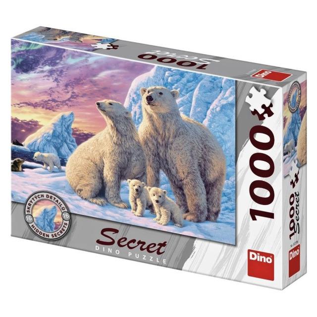 Obrázek produktu DINO Puzzle Lední medvědi Secret collection - 16 skrytých detailů, 1000 dílků