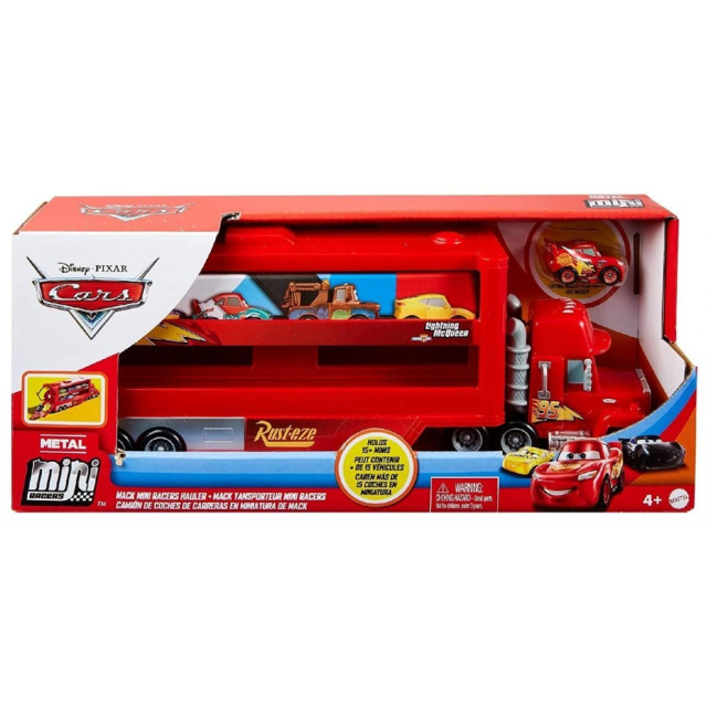 Obrázek produktu Cars 3 Mini transportér Mack a Blesk McQueen, Mattel GNW34