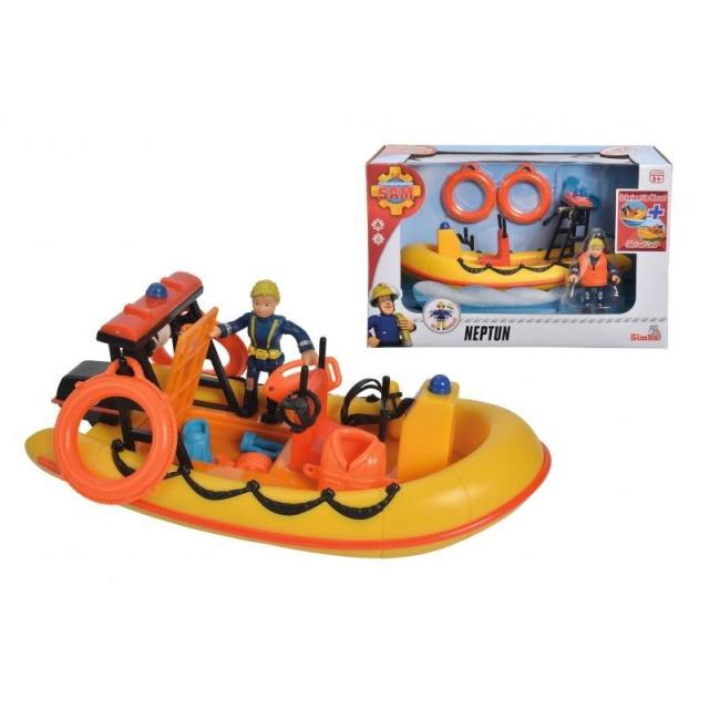 Obrázek produktu Simba Požárník Sam Záchranný člun Neptun 20cm s figurkou