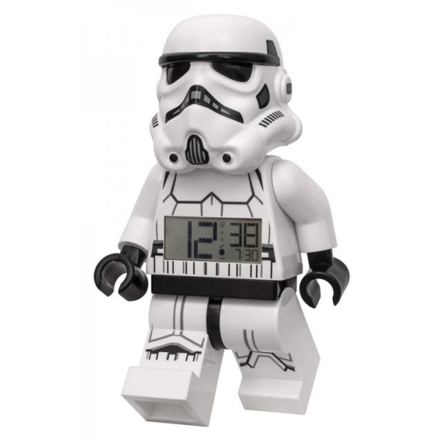 Obrázek produktu LEGO Star Wars Stormtrooper hodiny s budíkem 18cm