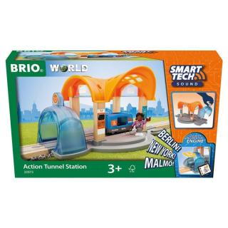Obrázek 1 produktu BRIO 33973 Smart Tech Sound Vlaková stanice s tunelem
