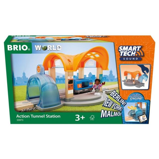 Obrázek produktu BRIO 33973 Smart Tech Sound Vlaková stanice s tunelem