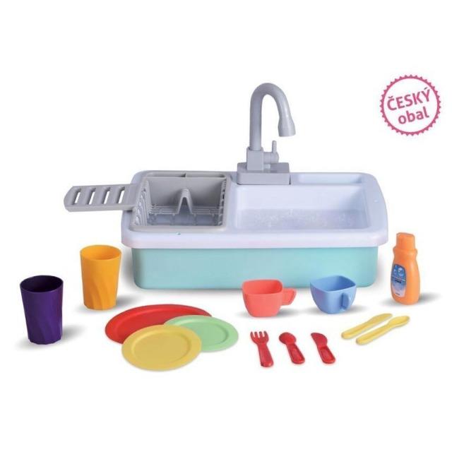 Obrázek produktu Wiky Dětský kuchyňský dřez s výbavou a tekoucí vodou 40 cm