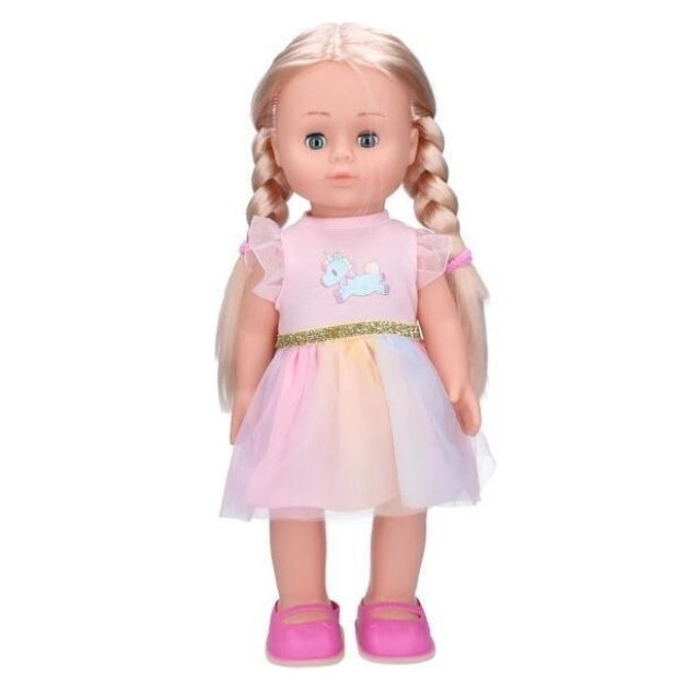 Obrázek produktu Wiky Eliška chodící a zpívající panenka 41 cm, růžové šaty