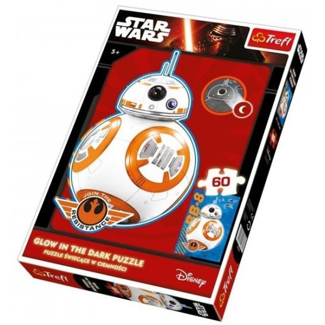 Obrázek produktu TREFL Puzzle Star Wars BB-8, 60 dílků, svítí ve tmě