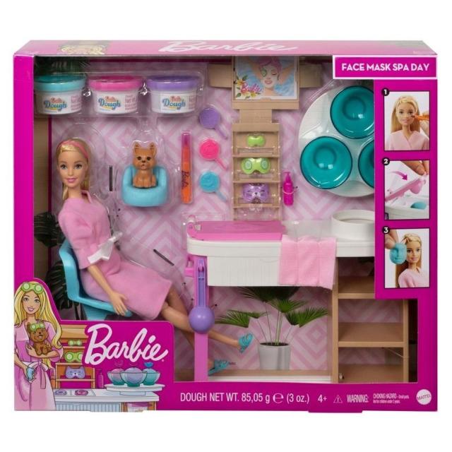 Obrázek produktu Mattel Barbie Salón krásy herní set s běloškou, GJR84