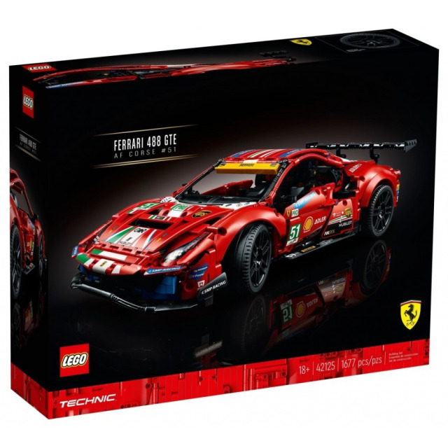 """Obrázek produktu LEGO TECHNIC 42125 Ferrari 488 GTE """"AF Corse #51"""""""