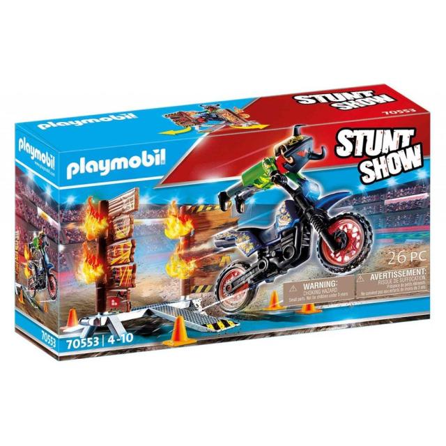 Obrázek produktu Playmobil 70553 StuntShow Motocykl a hořící stěna