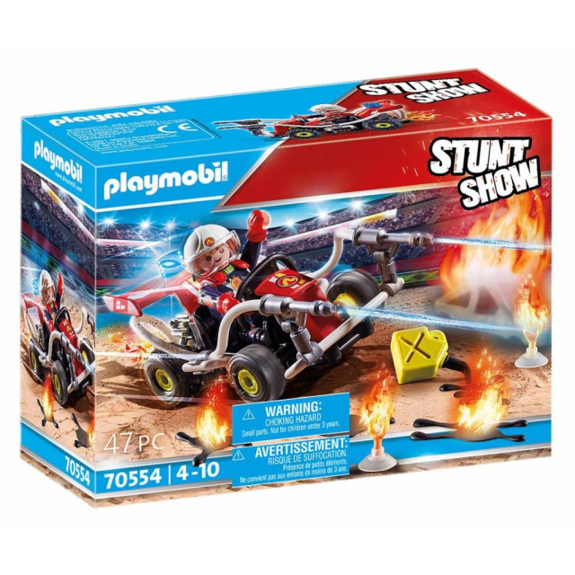 Obrázek produktu Playmobil 70554 StuntShow Hasičská motokára