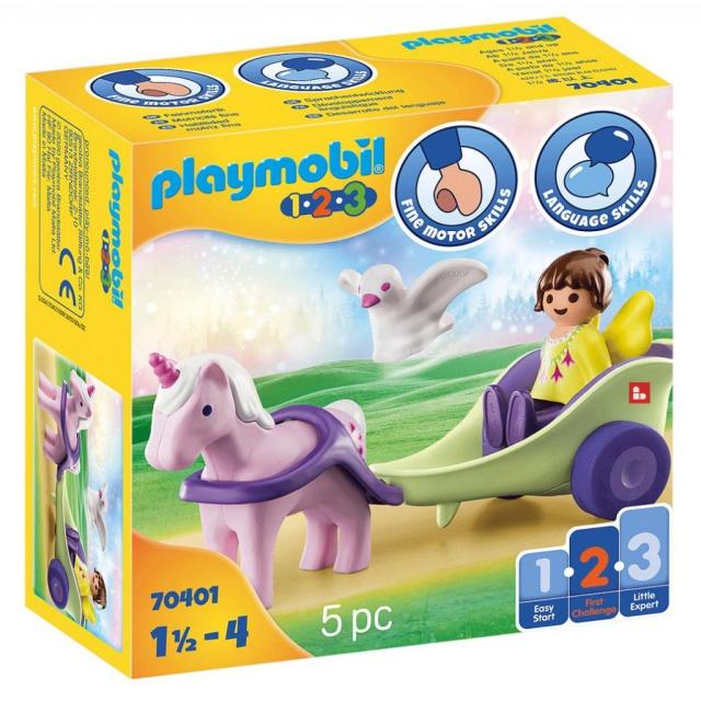 Obrázek produktu Playmobil 70401 Kočár s jednorožcem a vílou (1.2.3)