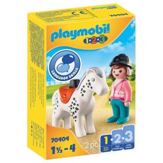 Obrázek 1 produktu Playmobil 70404 Žokejka s koněm (1.2.3)
